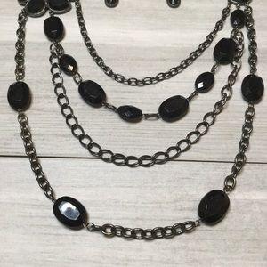torrid Jewelry - Torrid Gemstone Necklace and Earring Set Black.